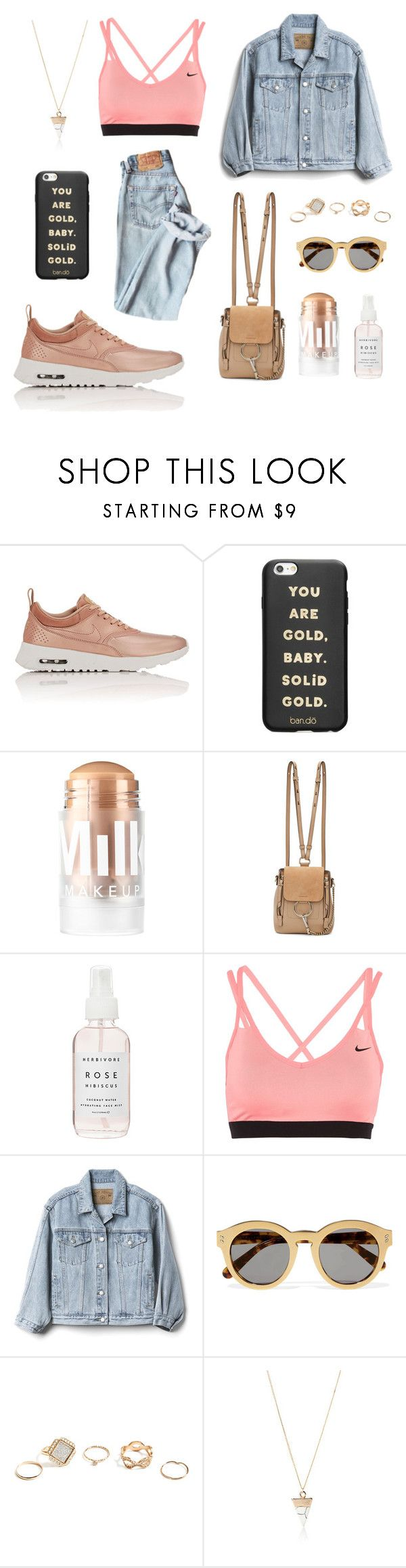 """street pink"" by lanagur on Polyvore featuring мода, NIKE, ban.do, MILK MAKEUP, Chloé, Herbivore, Gap, STELLA McCARTNEY, GUESS и Simons"