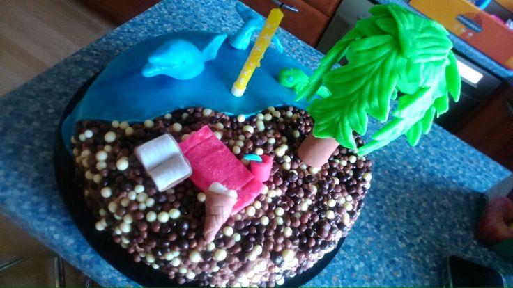 16. Plážový dort pro maminku. 2015