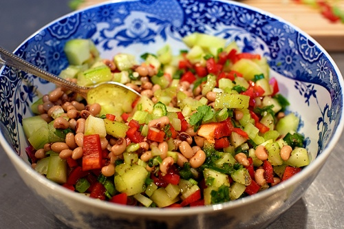 New Year's Day - lucky black-eyed pea salsa
