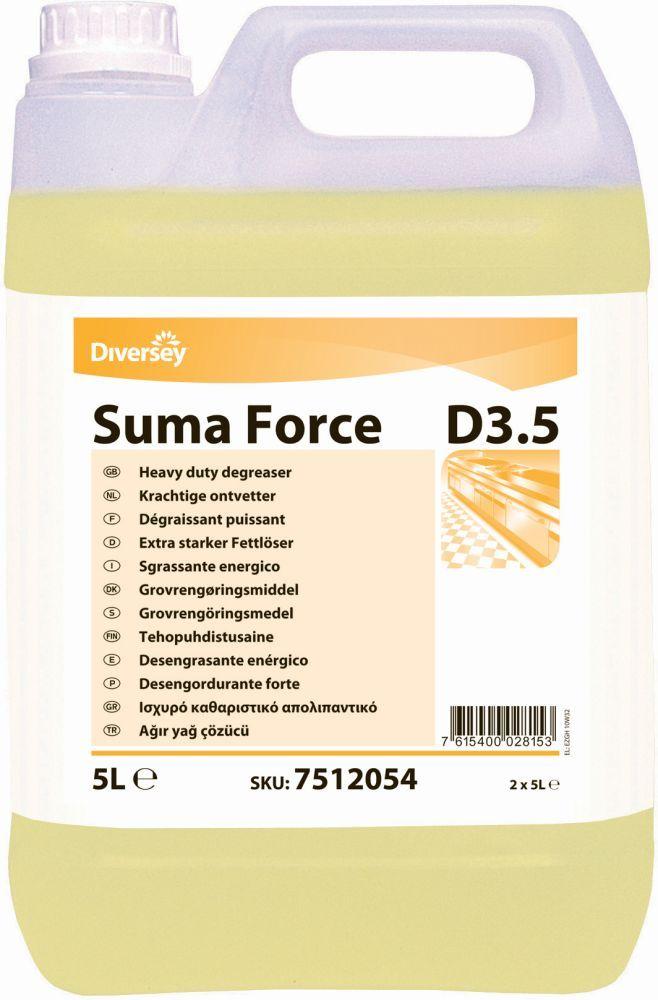 Suma Force D3.5 degresant lichid concentrat pentru curatarea suprafetelor foarte murdare din bucatarie.