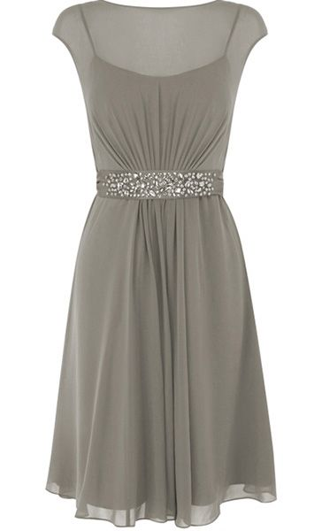 Pin to Win a Wedding Gown or 5 Bridesmaid Dresses! Simply pin your favorite dresses on www.forherandforhim.com to join the contest! | Illusion Neckline Dress $209.99