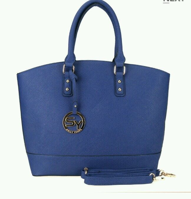 Sally Young Blue Spacious Elegant Handbag