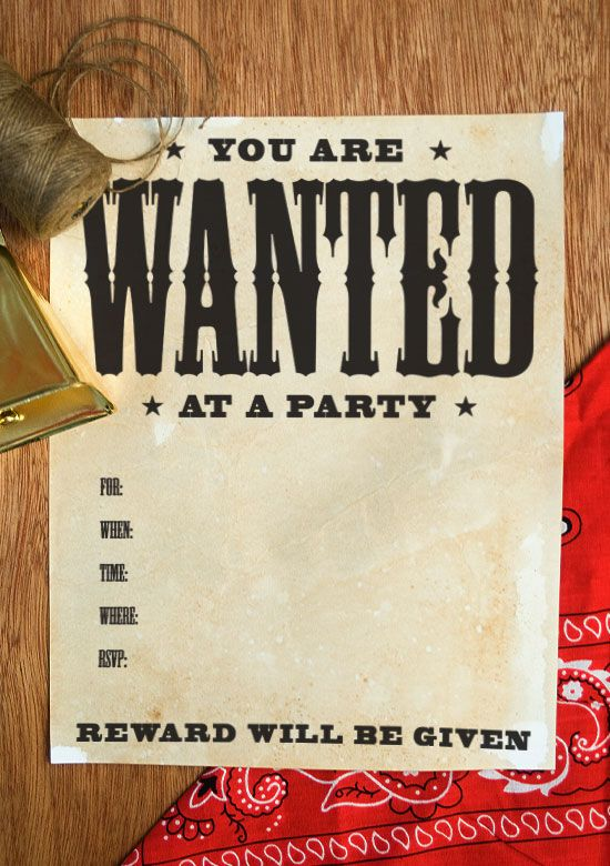 wanted poster how to on onecharmingparty com
