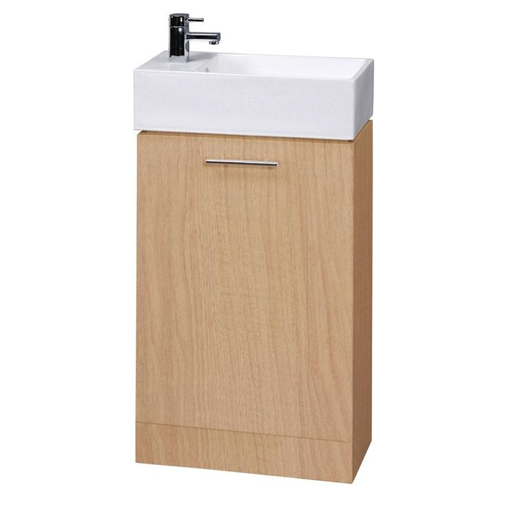 Photo Of Premier Beech Compact Bathroom Cabinet and Basin Wide x Deep Online
