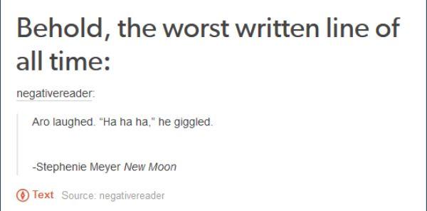 Worst Written Line Ever