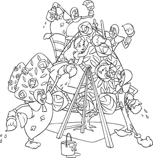 alice and wonderland club coloring page