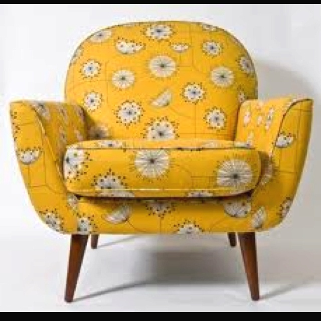 Yellow floral chair decorate pinterest ohrensessel for Ohrensessel floral