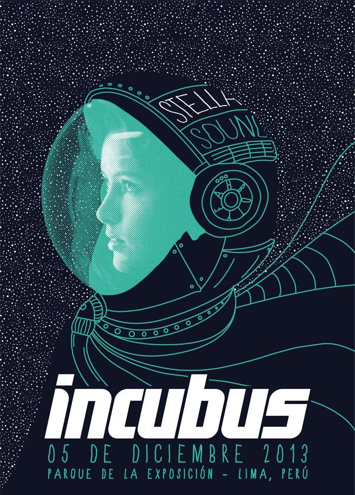 Incubus en Lima by Piero Böttger (botyeah) #Incubus #Concert #Poster