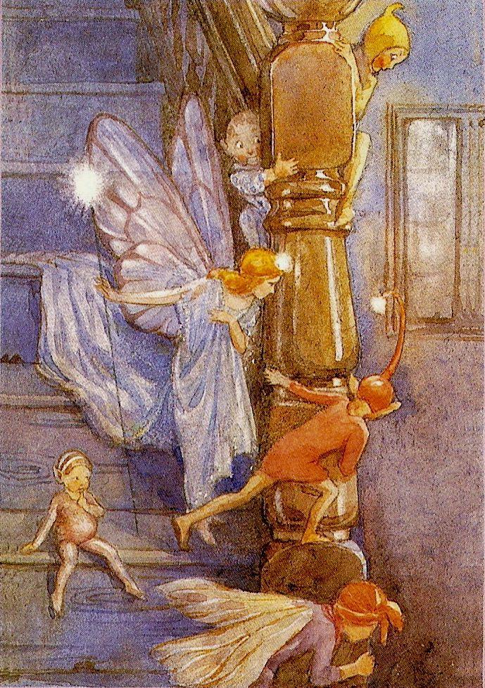 *FAIRY ~ Margaret W. Tarrant  sneaking through a home.