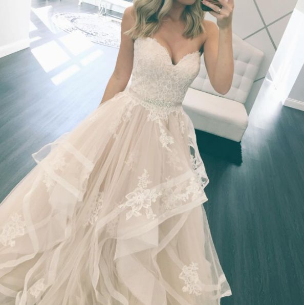 Stella York Bridal // Layered Ballgown // Wedding Dress// One & Only Bridal Boutique //http://www.oneandonlybridalboutique.com/stella-york