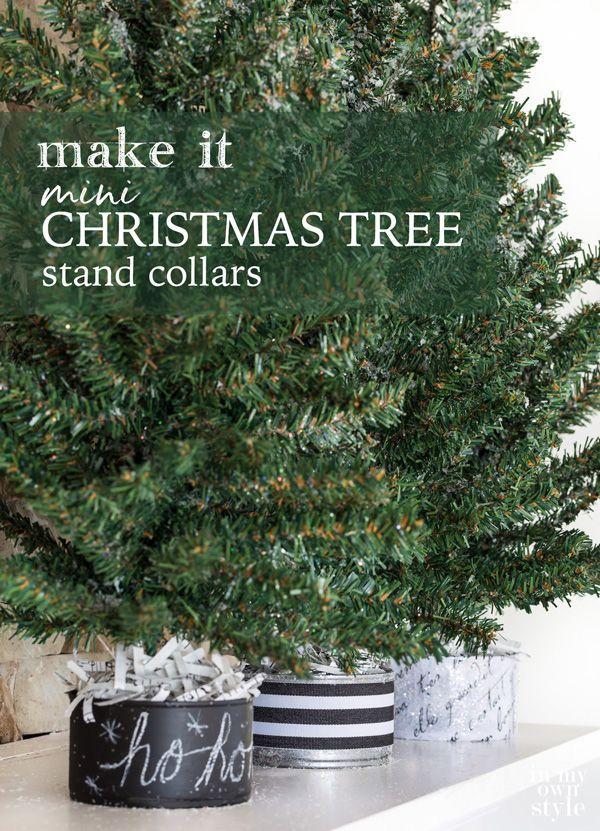 Mini Christmas Tree Base Styling Hack With Images Christmas