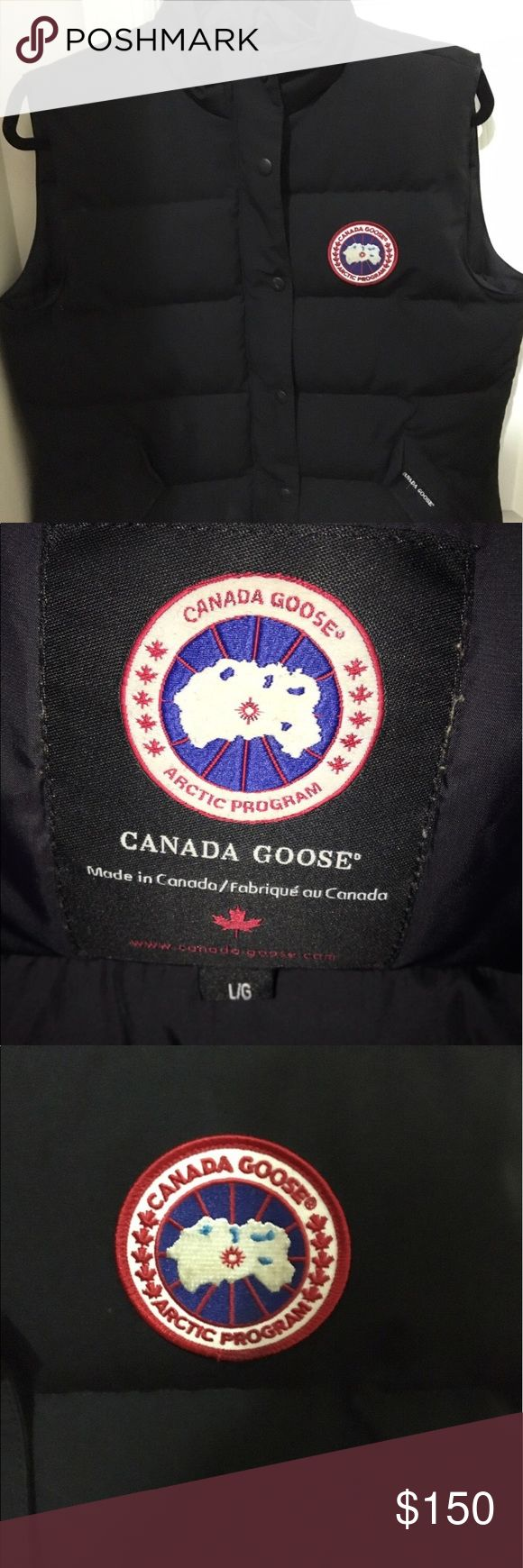 Canada Goose Vest Women's Canada goose Vest worn about four times, This Vest is in perfect condition and it's authentic. Canada Goose Jackets & Coats Vests