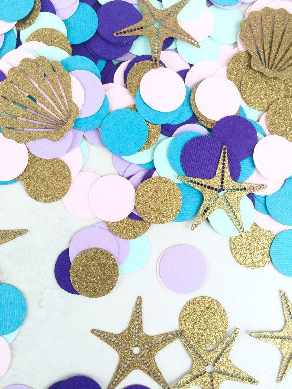 Mermaid Confetti  Princess Party by paperconfettidotcom on Etsy