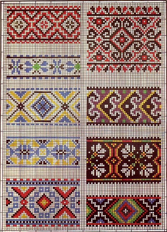 interesting possibilities for cross stitch borders or maybe even quilt patterns
