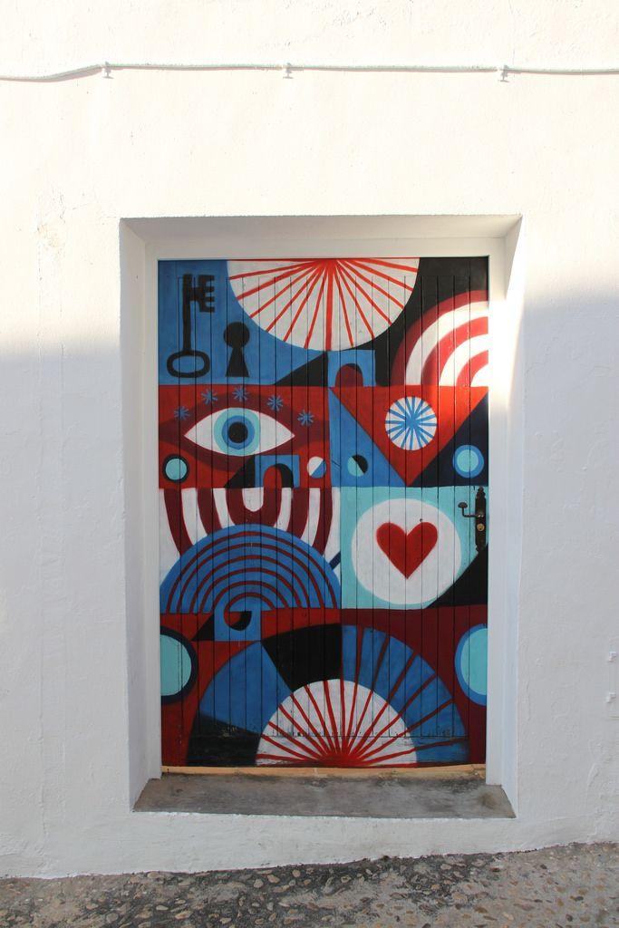 Painted door, Altea-Alicante, España