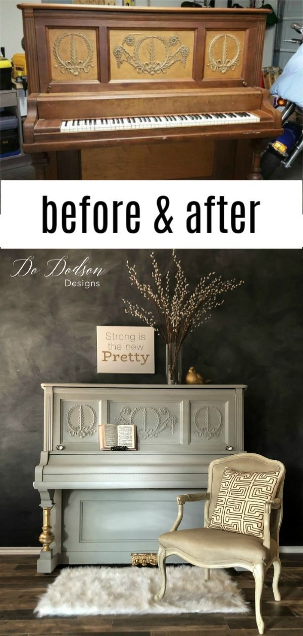 How To Paint A Piano In 1 Day Painted Pianos Furniture Makeover Painted Furniture