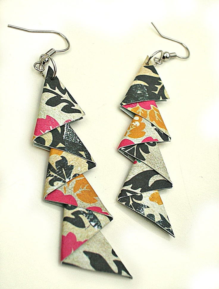 Sandys Space: Paper Earrings Tutorial