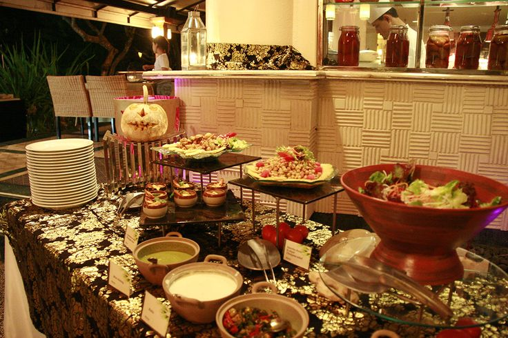 Our Indian Theme Buffet Delight on Halloween day. #westinbali