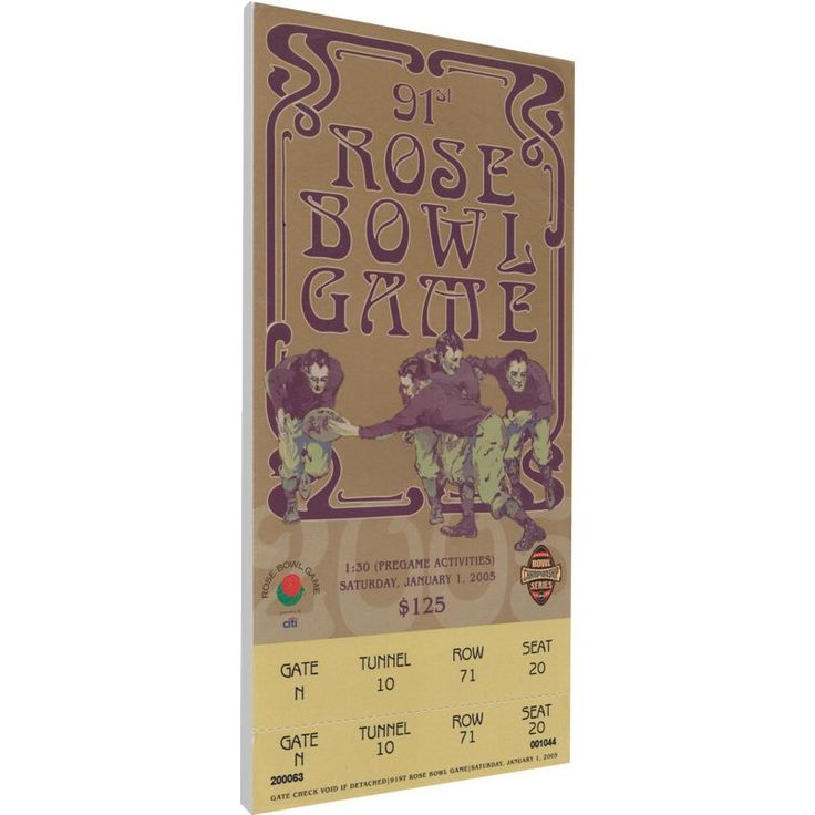 That's My Ticket Texas Longhorns 2005 Rose Bowl Canvas Mega Ticket, Team