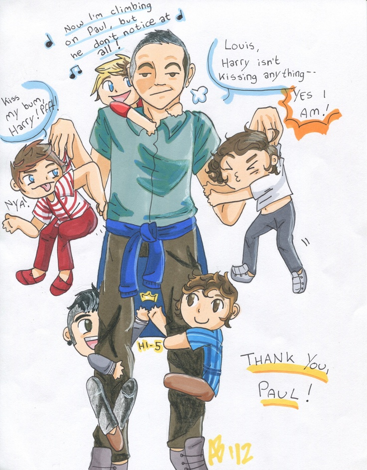 THANK YOU FOR PROTECTING OUR BOYS PAUL! OH MY GAH WE SHOULD MAKE A PAUL DAY! APRIL 19 WEAR EVERYTHING U HAVE 1D, WRITE THANKS PAUL ONE YOUR WRIST, AND PAINT UR NAILS RED OR USE 1D NAILS OR PAINT 1D NAILS! SPREAD THE WORD TO ANY OTHER SOCIAL NETWORKING SITE THINGY U HAVE! SPREAD THE WORD! ❤