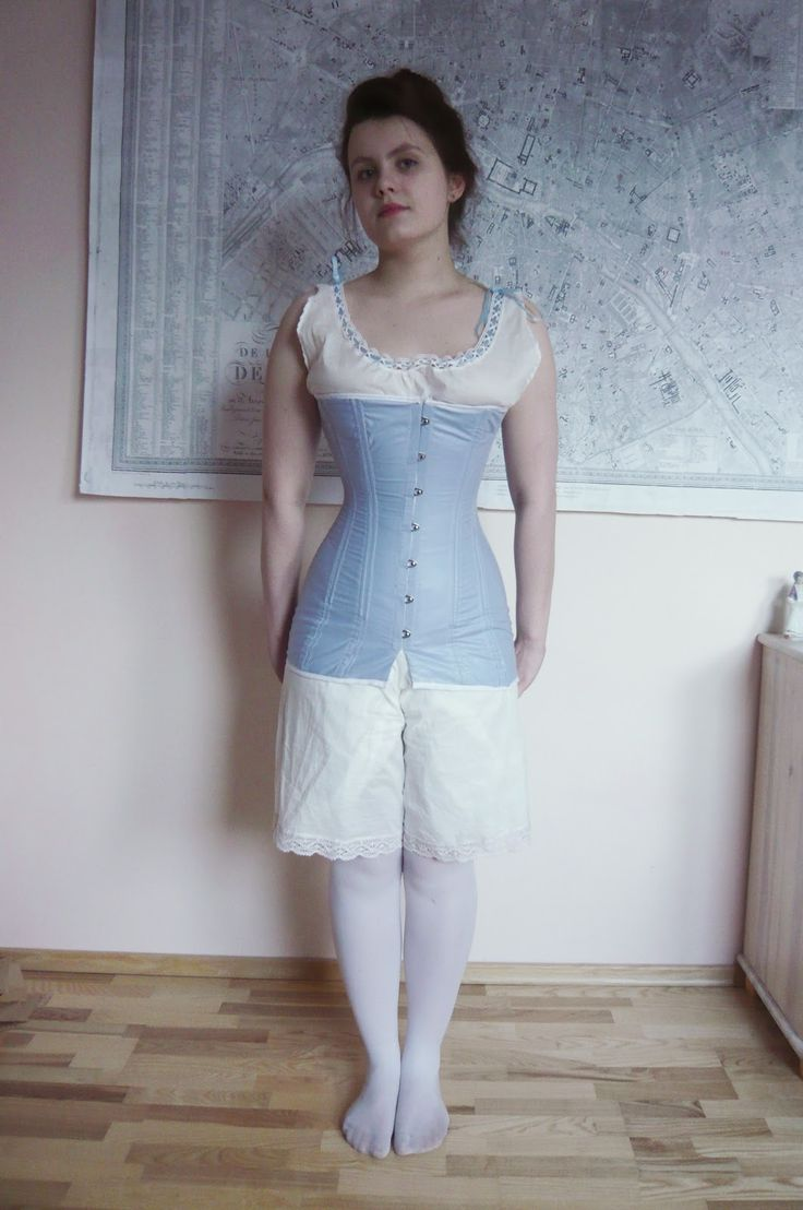 The House of Old Fashion: HSM#2 Niebieski- gorset 1910 / HSM#2 Blue- teens era corset