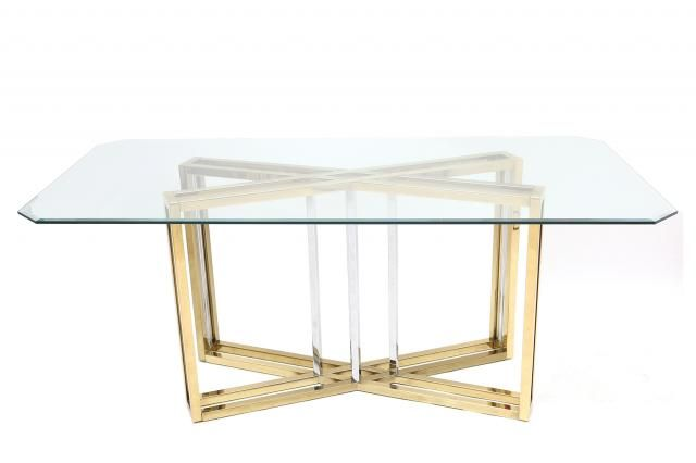 "W35"" French Dining Table by Maison Jansen for sale at Pamono"