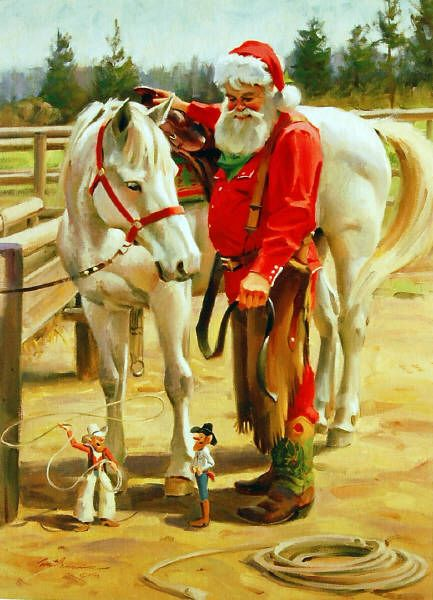 One of many Tom Browning Christmas paintings