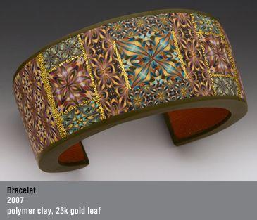 Bracelet, polymer clay, Sandra McCaw