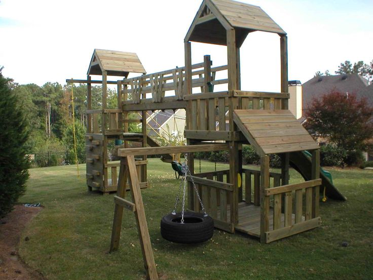 How to build a wooden swinging bridge woodworking for Diy play structure