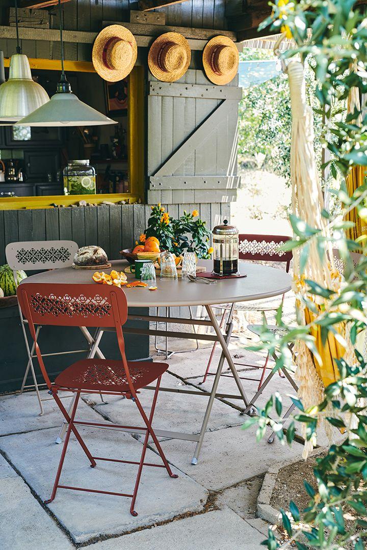 Collection Lorette Fermob Mobilier De Jardin En Metal En 2020 Table Exterieur Meubles De Jardin Design Mobilier Jardin