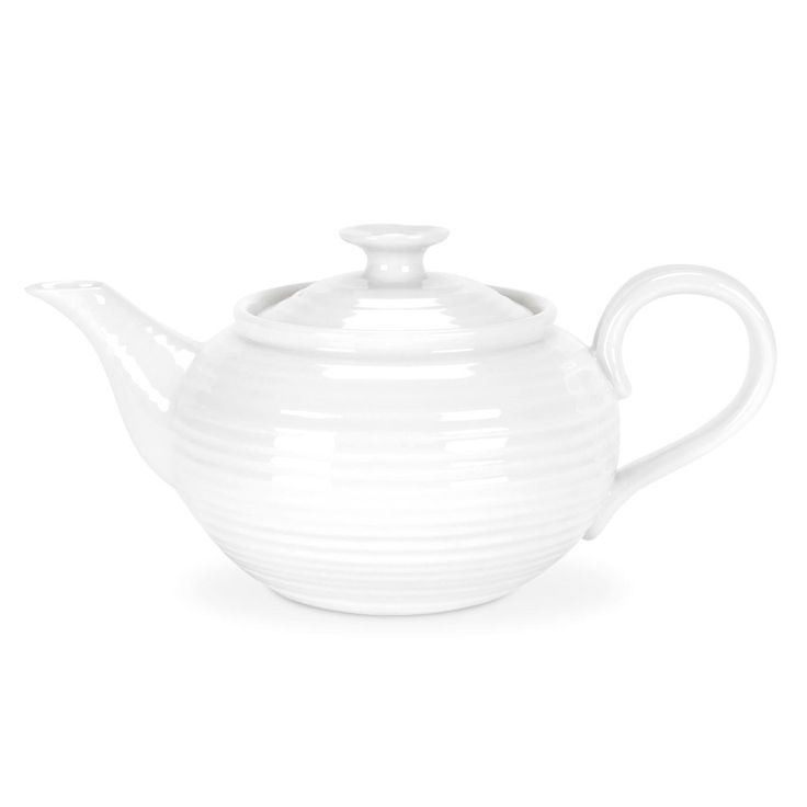 Sophie Conran White 1 Pint Small Teapot is the perfect size for two cups of tea. 0.6L (1pt) Product Code: CPW76867.  Call 905·885·9250.