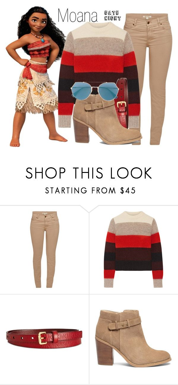 """Moana~ DisneyBound"" by basic-disney ❤ liked on Polyvore featuring Barbour, rag & bone, Michael Kors, Sole Society and Fendi"
