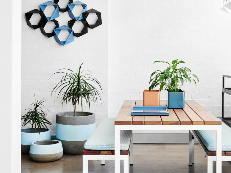 The Linear table setting and Stellar wall sculpture looking fresh in Tait's Redfern showroom.