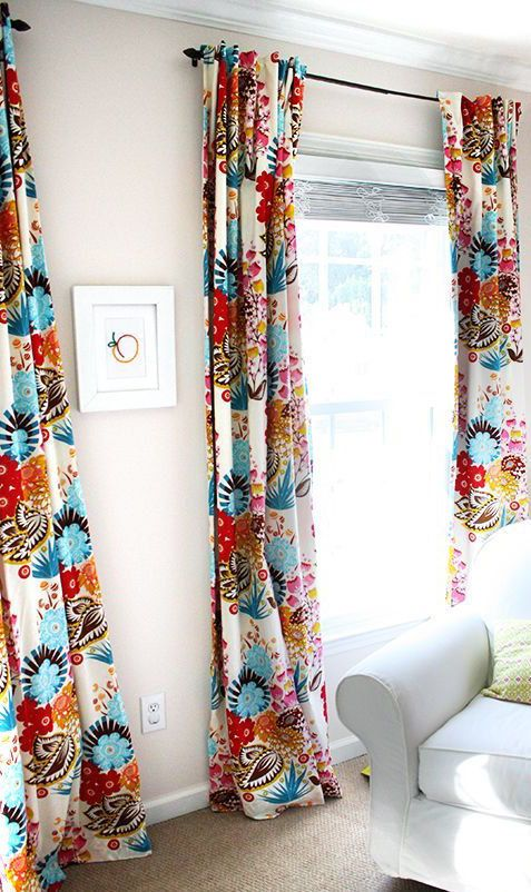 Boho Curtains W/ Blackout Lining.  2 Panels of 40wx84L.  Girls/Teenage Window Treatments.  Bedroom Curtains. Red, Teal, Yellow Floral Drapes