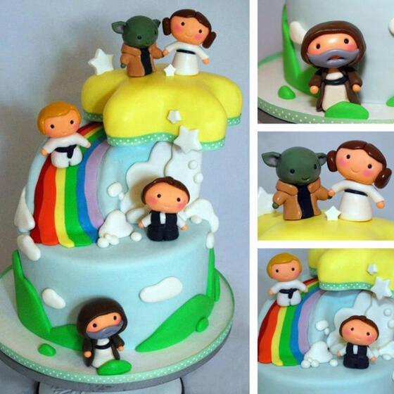 so stinking cute!!!! def for family baby shower!!!Adorable :::: Star Wars baby cake!