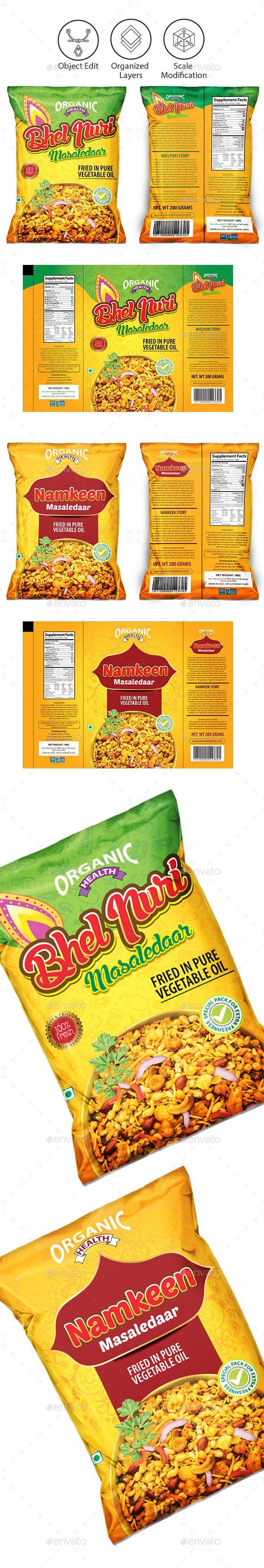 Snacks Packaging Template Vector EPS, AI Illustrator