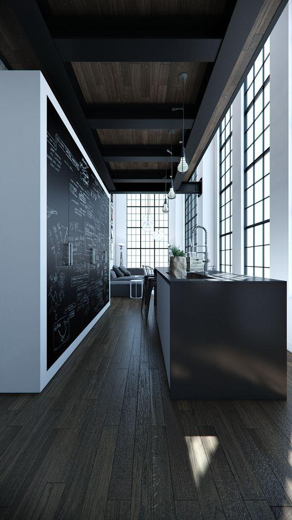 Notitiebord Keuken : Chalkboard Cabinet Interior