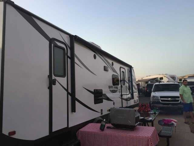2016 Used Jayco White Hawk 28DSBH Travel Trailer in South Carolina SC.Recreational Vehicle, rv, 2016 Jayco White Hawk 28DSBH, Brand New Jayco Whitehawk for sale. We have used this unit twice. We special ordered this unit for our family, now our circumstances have changed and we would like to sell. Features: --Glacier Package --Upgraded 15K AC unit --Fully enclosed slide toppers --Anderson leveling kit --Sway bars and trailer hitch included --2 X chocks for both sets of tires Please call…