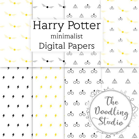 """⚡ Harry Potter minimalist Digital Papers - jpeg, 300 dpi , 16 designs ⚡ The pack includes: 16 images in jpeg format. Size: 12"""" x 12"""" in 300dpi (3600 x 3600px). Ready to print. You will receive 2 Zip files on your download. Once your payment is processed you will receive an email #harrypotter #minimalist #digitaldownload #printable #wrappingpaper"""