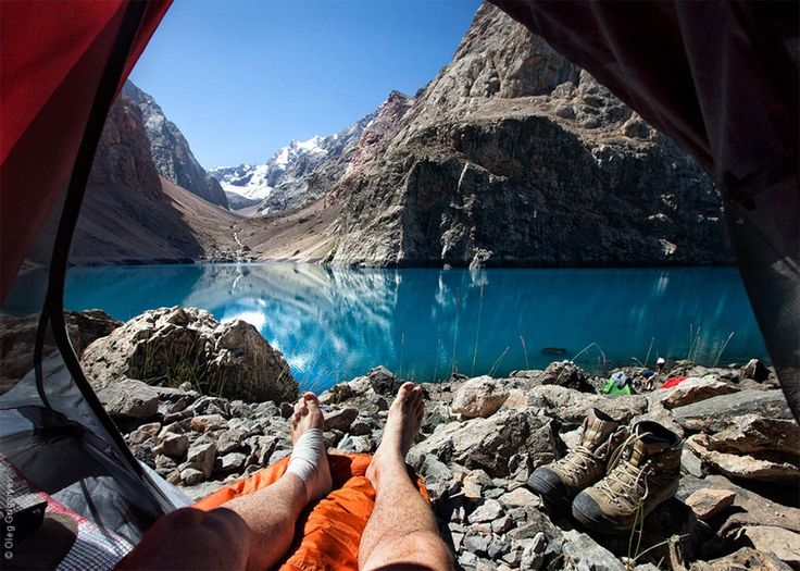 Morning View From A Tent By Oleg Grigoryev.                                             ☼