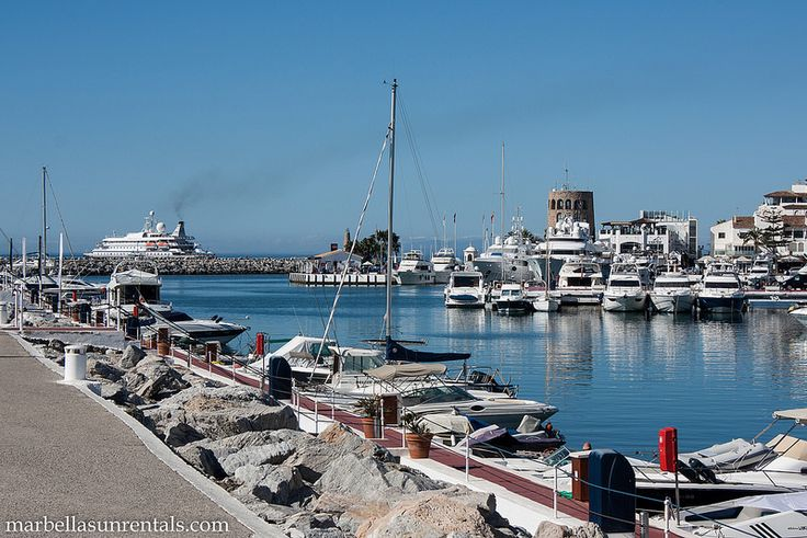Puerto Banus at the end looking from the breakwater
