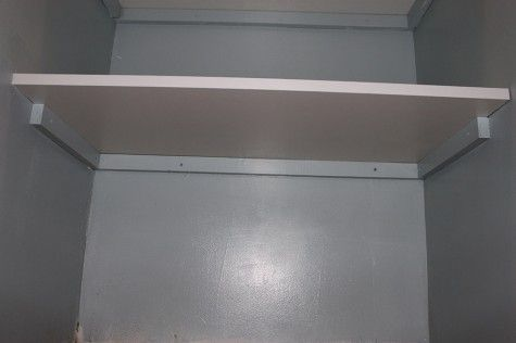 Pantry Makeover. DIY Shelving is easy with wood supports and melamine shelves.