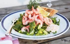 vårsallad shrimps