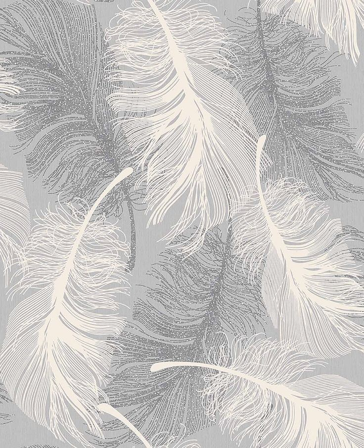 17 best ideas about feather wallpaper on pinterest for Gray and white wallpaper designs