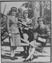 Native American women as Marine Corps Reservists at Camp Lejeune in 1943. The women here represent the Blackfeet, Potawatomi, and Chippewa.