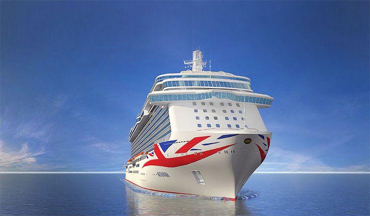 P&O Cruises представила новую ливрею своего круизного флота
