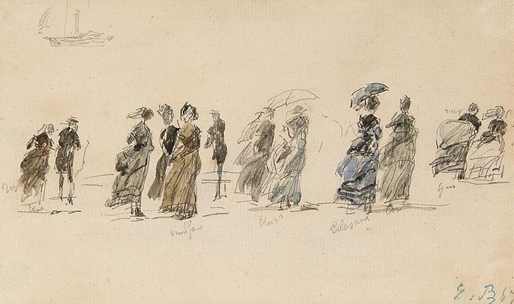 Bilderesultat for sketches of eugene boudin
