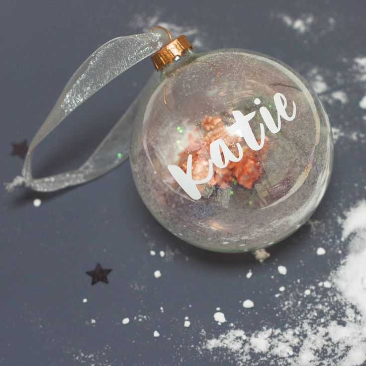 Personalised Name Bauble – Little Pieces