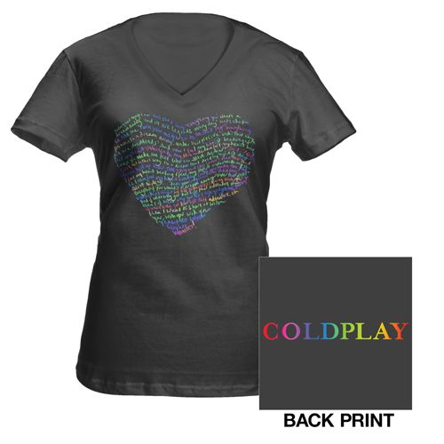 Coldplay Lyric Heart Women's T-Shirt