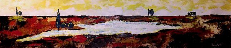 """Dos cuadros mas en mi web """" paisaje con abetos """" espero que os gusten  http://www.goloviartecuadros.es/ #arte"""